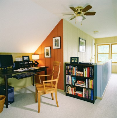 Home Office in Attic Room